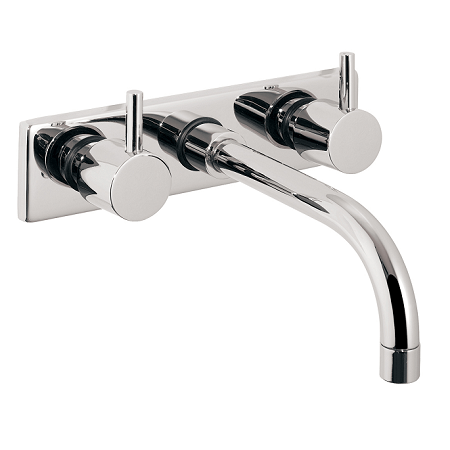 Just Taps Plus Florence Wall Mounted Bath Filler With Plate-0