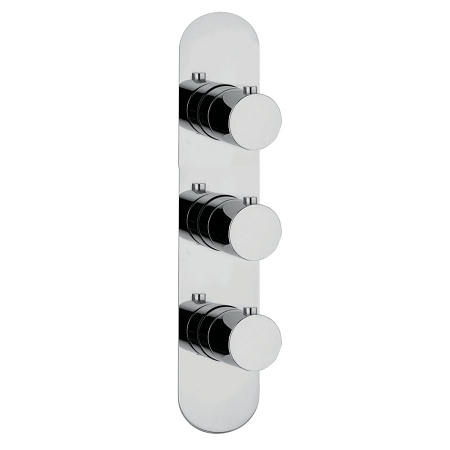 Just Taps Plus Florence Slimline 3 Outlet Thermo Valve-0
