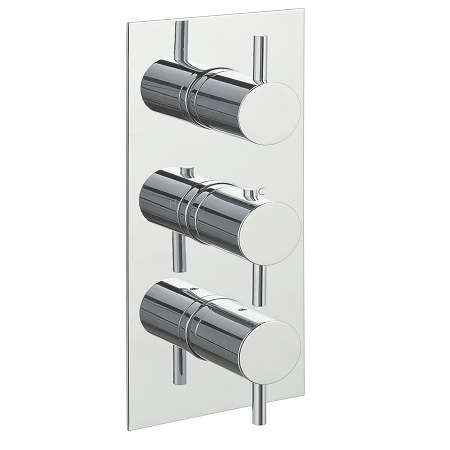 Just Taps Plus Florence Vertical Thermostatic 3 Outlet Valve-0
