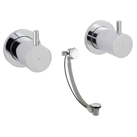 Just Taps Plus Florence Wall Mounted Valves With Exofill -0