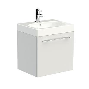 Saneux Austen 50cm White Gloss Soft Close Single Drawer Unit-0