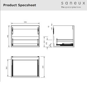 Saneux Austen 60cm Pacific Walnut Drawer Unit 500207-13905