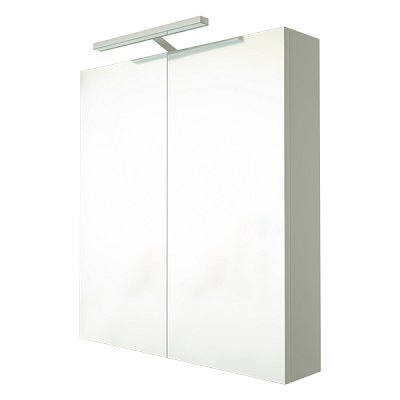 Saneux Austen 60cm White Gloss Illuminated Cabinet 500631-0