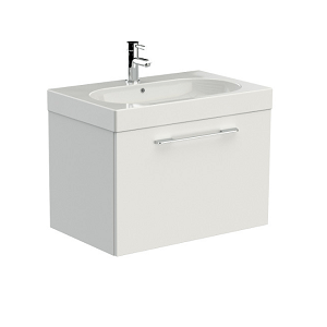 Saneux Austen 71cm Wall Mounted White Gloss Drawer Unit-0