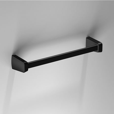 Sonia S6 Black Wall Mounted 323mm Towel Rail 166404-0