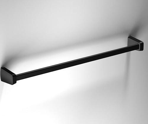Sonia S6 Black Wall Mounted 56cm Single Towel Rail 166411-0
