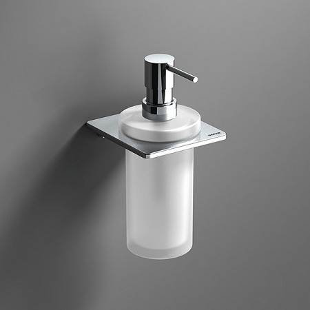 Sonia S Cube Wall Mounted Frosted Glass Soap Dispenser-0