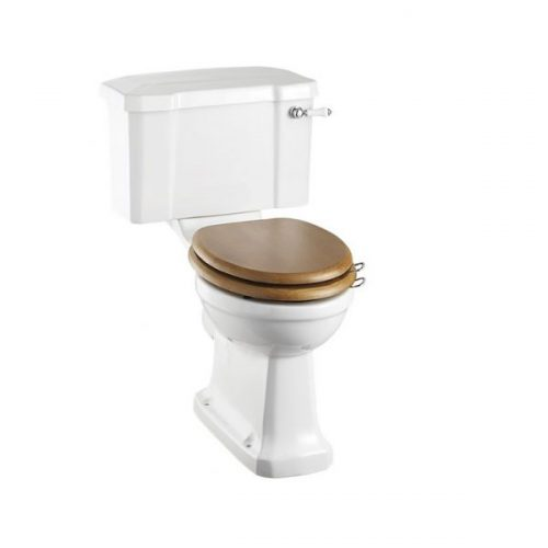 Burlington Close Coupled Traditional Toilet WC with Seat P5 C1 S16-0