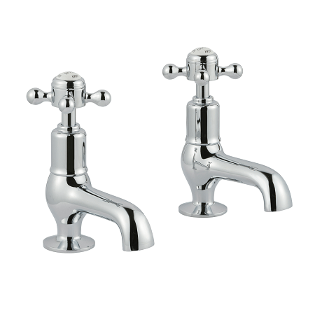 Just Taps Plus Grosvenor Cross Chrome Cloakroom Basin Taps-0