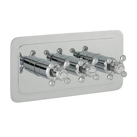 Just Taps Plus Grosvenor Cross Horizontal 2 Outlet Valve-0