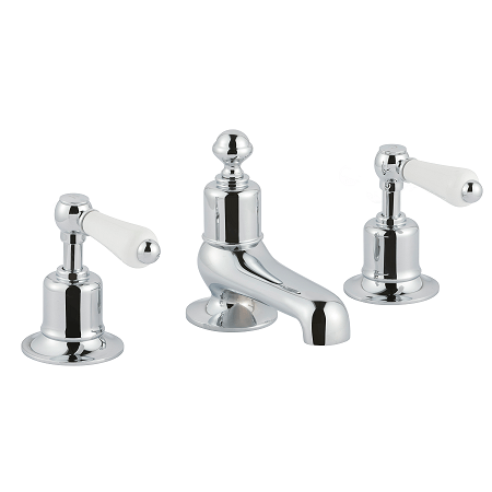 Just Taps Plus Grosvenor Lever 3 Hole Deck Mount Basin Mixer-0