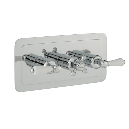Just Taps Plus Grosvenor Lever Horizontal 2 Outlet Valve-0