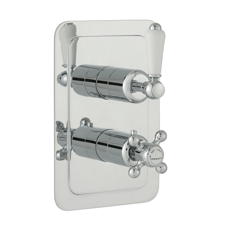 Just Taps Plus Grosvenor Lever Thermo 2 Outlet Valve-0