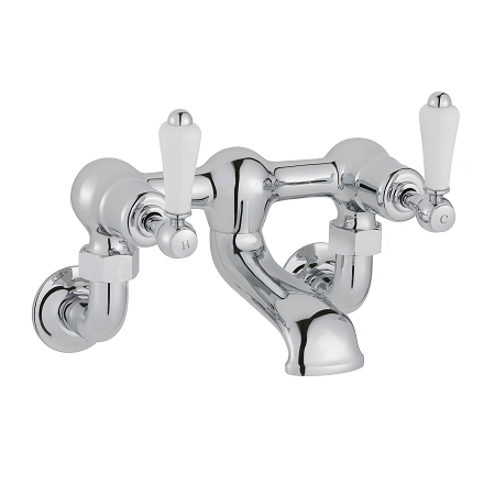 Just Taps Plus Grosvenor Lever Wall Mounted Bath Filler-0