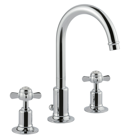 Just Taps Plus Grosvenor Pinch Chrome 3 Hole Basin Mixer-0