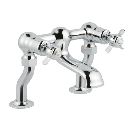 Just Taps Plus Grosvenor Pinch Deck Mounted Bath Filler-0