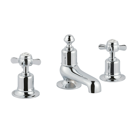 Just Taps Plus Grosvenor Pinch Deck 3 Hole Basin Mixer-0