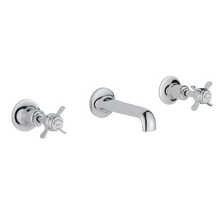 Just Taps Plus Grosvenor Pinch Wall Mounted Basin Mixer-0
