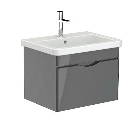 Saneux Indigo 60cm Grey Gloss Wall Mounted Unit-0