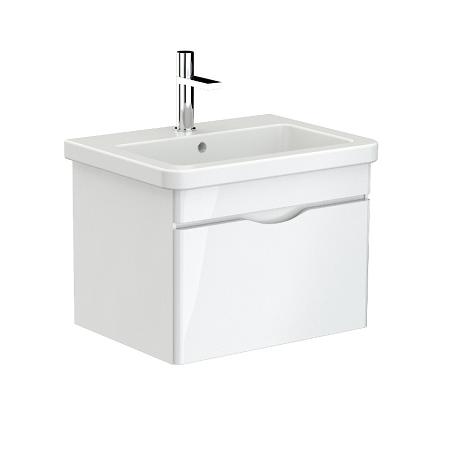 Saneux Indigo 60cm White Gloss Wall Mounted Unit-0
