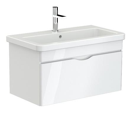 Saneux Indigo 80cm Wall Mounted White Gloss Unit-0