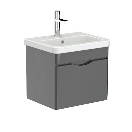 Saneux Indigo 50cm Grey Gloss Wall Mounted Unit-0