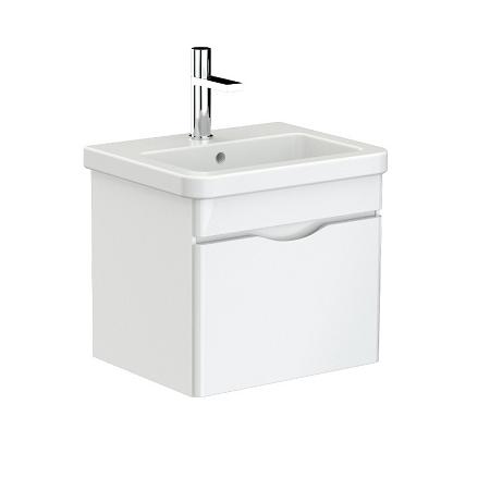 Saneux Indigo 50cm Wall Mounted White Gloss Unit-0
