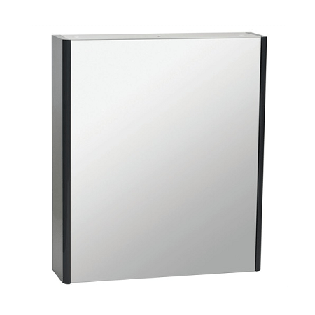 Saneux Matteo 50 x 70cm Black Gloss Mirrored Cabinet-0
