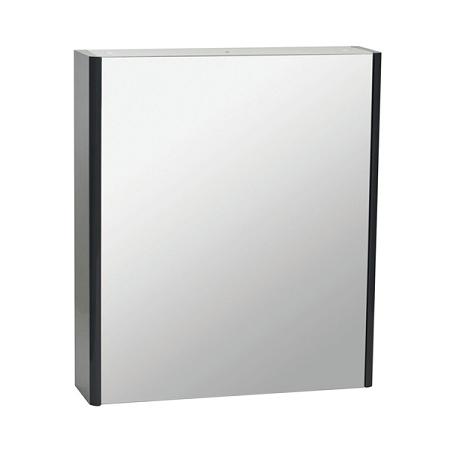 Saneux Matteo 50 x 70cm Black Gloss Mirrored Cabinet-0