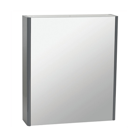Saneux Matteo 50 x 70cm Grey Gloss Mirrored Cabinet-0