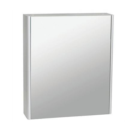 Saneux Matteo 50 x 70cm Black Gloss Mirrored Cabinet-14589