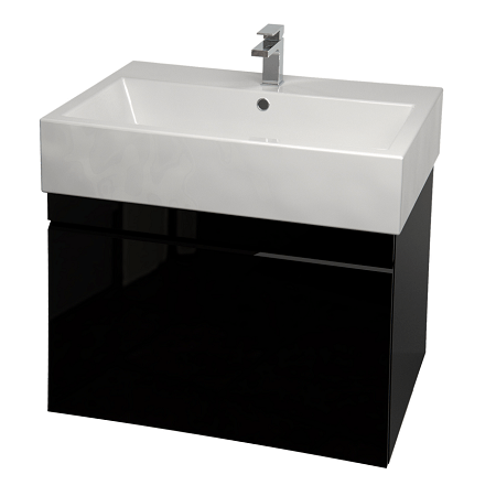 Saneux Matteo 60cm Wall Hung Black Gloss Handless Unit-0
