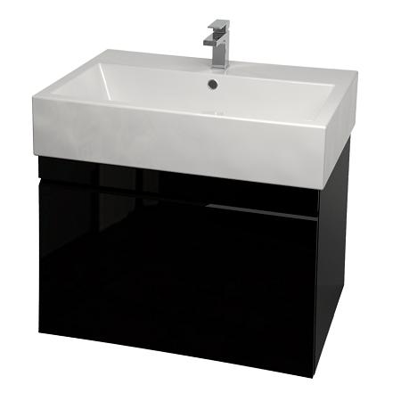 Saneux Matteo 60cm Wall Hung Black Gloss Handless Unit-0