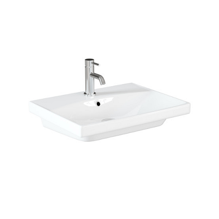 Saneux Prague 60 x 45cm 1 Tap Hole Washbasin-0