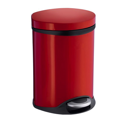 Smedbo 6 Litre Red Bathroom Pedal Bin FK664-0