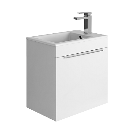 Bauhaus Zion 500mm White Gloss Fine Clay 1 Tap Hole Basin -0