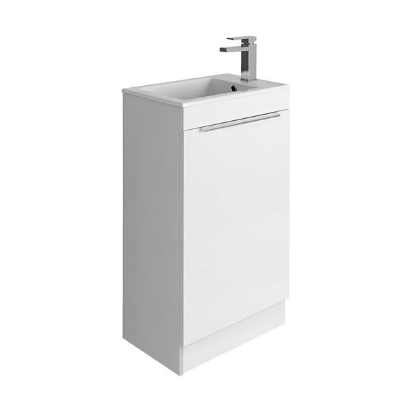 Bauhaus Zion White Gloss 50cm Floor Unit And Basin-0