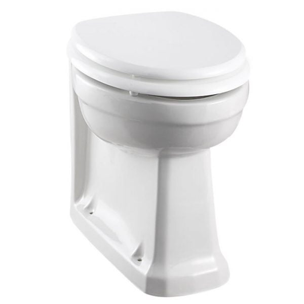 Burlington Back to Wall Traditional Toilet WC with White Seat P14 S18-0