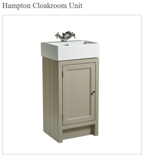 Roper Rhodes Hampton 400mm Traditional Mocha Cloakroom Unit and Basin-0