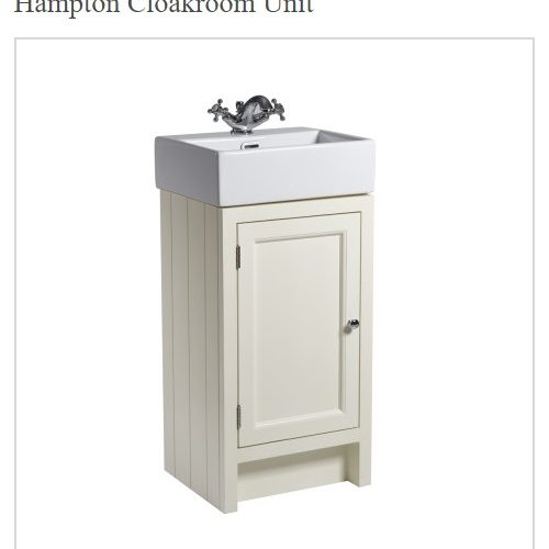 Roper Rhodes 400mmHampton Traditional Vanilla Cloakroom Unit and Basin-0