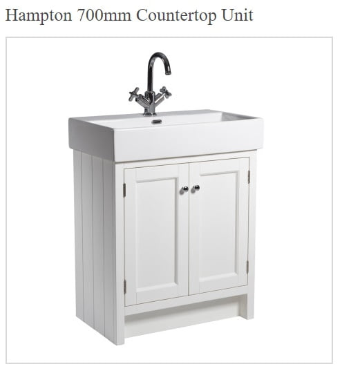 Roper Rhodes Hampton Traditional Countertop 7000mm White Unit and Basin-0