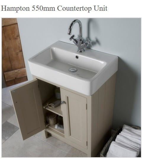 Roper Rhodes Hampton Traditional Countertop 550mm Mocha Unit and Basin-0