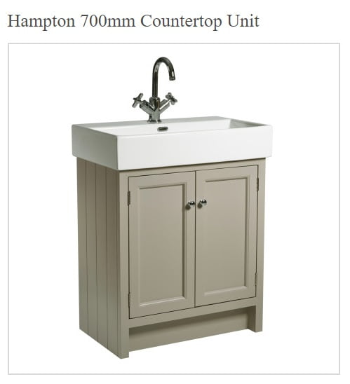 Roper Rhodes Hampton Traditional Countertop 7000mm Mocha Unit and Basin-0