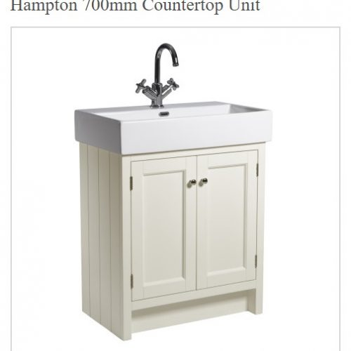 Roper Rhodes Hampton Traditional Countertop 7000mm Vanilla Unit and Basin-0