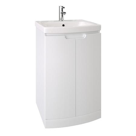 Saneux I-Line 50 x 38cm Floor Standing 2 Door White Gloss Unit-0