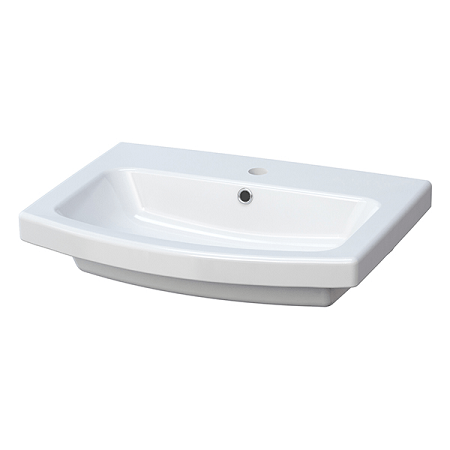 Saneux I-Line 60 x 40cm One Tap Hole Washbasin 60622-0