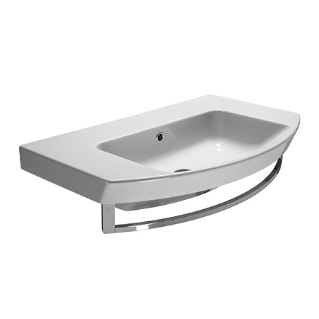 Saneux Poppy 80 x 50cm No Tap Hole Washbasin With Overflow-0