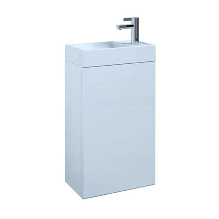 Saneux Quadro Wall Mounted 40cm White Gloss Basin Unit-0