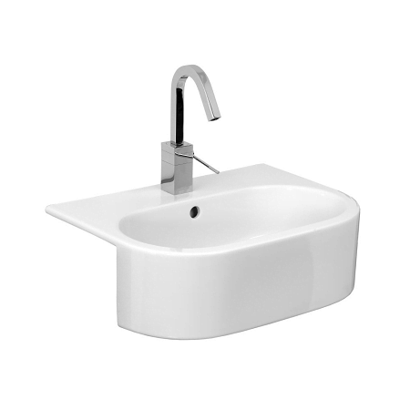 Saneux Uni 54x40cm Semi Recessed 1 Tap Hole Washbasin-0