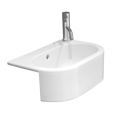 Saneux Uni Semi Recessed 46 x 32cm Left Tap Hole Basin-0